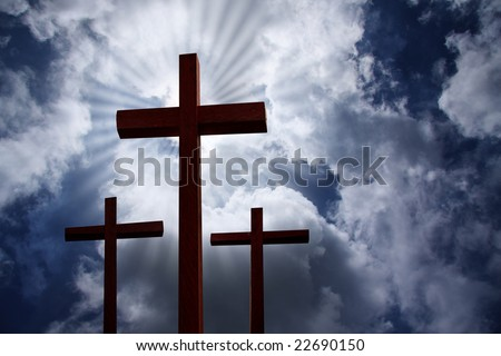 The cross- symbol of God's love to people - stock photo