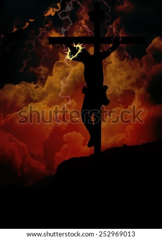 The Crucifixion of Jesus Christ - stock photo