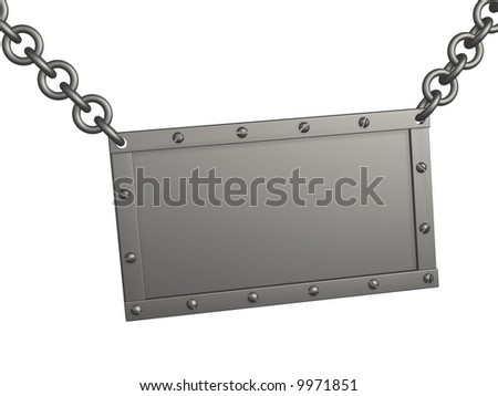 The 3d metal tablet, suspended on circuits. Objects over white - stock photo