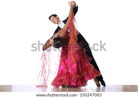 The dancers in ballroom  - stock photo