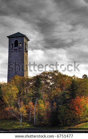 The Dark Tower (Dingle Tower, Halifax, Nova Scotia) - stock photo