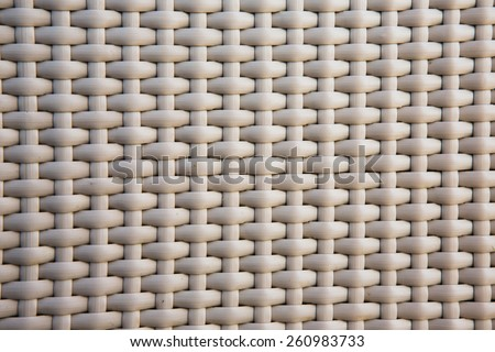 the dark wooden texture of rattan with natural patterns - stock photo