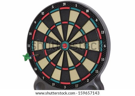 The darts game, number 8 - stock photo