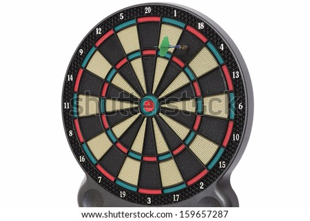The darts game, number 18 - stock photo