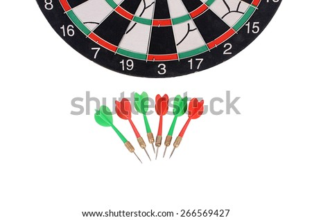 The darts isolated on a  white background - stock photo