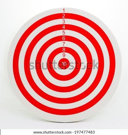 The darts on white background. isolate - stock photo
