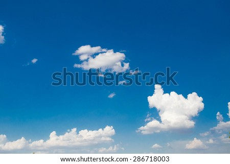 The daytime sky with clouds - stock photo