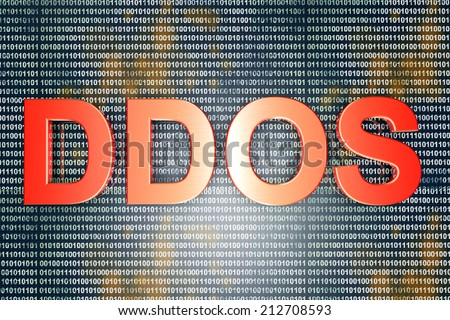 The DDOS - Distributed Denial Of Service - hackers attack. 3D rendered Illustration. - stock photo