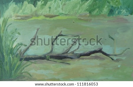 The dead branches - stock photo