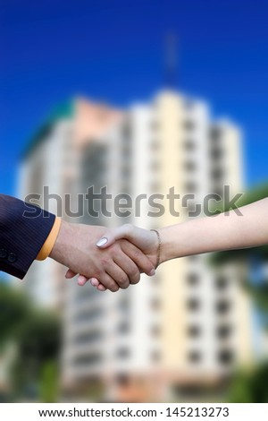 The deal to sell a new home - stock photo