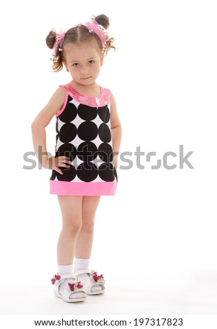 The dear child of preschool age - stock photo