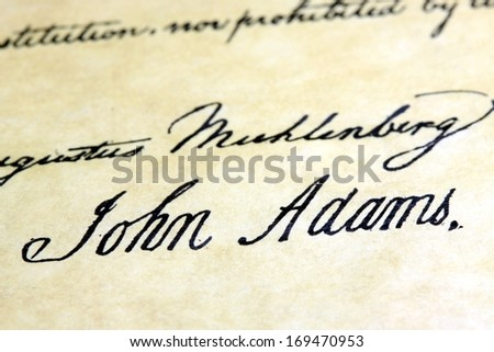 Declaration of Independence Signatures  |Declaration Of Independence Signatures John Adams