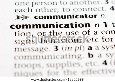 The definition of communication - stock photo