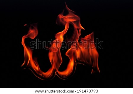 The depiction of burning flames - stock photo