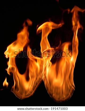 The depiction of fire flames burning - stock photo