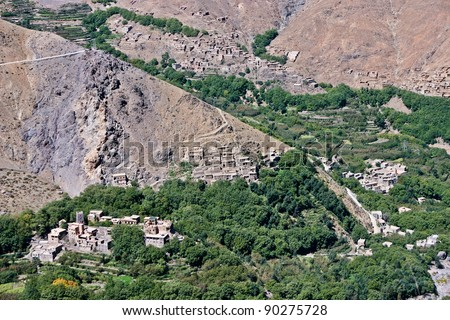 The descent of Toubkal in Morocco - stock photo