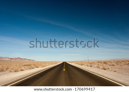 The desert just outside Death Valley National Park, California - stock photo