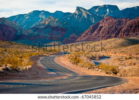 The Desert Of Red Rock Canyon - stock photo