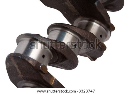 The design of a cranked shaft of the engine influences capacity, dynamics and profitability of the engine. - stock photo