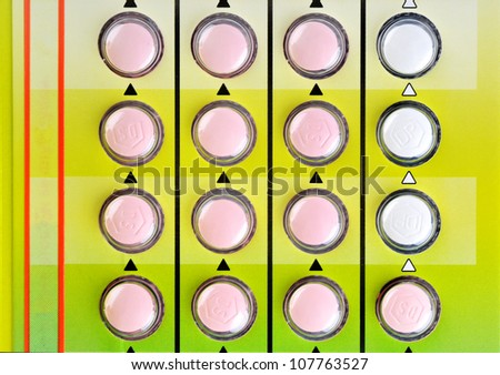 The detail - birth control pills . - stock photo