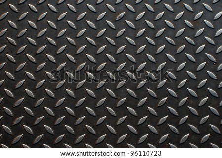 The diamond steel metal sheet - stock photo