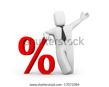 The discount offer - stock photo