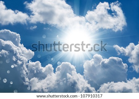 The divine sky - stock photo