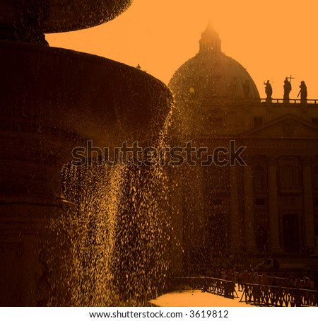 The Dome Of Saint Peter's Church, Rome, Italy - stock photo