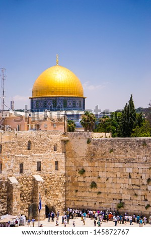 The dome of the Rock Jerusalem, Israel - stock photo