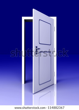 The Door is open for you... 3D rendered Illustration. - stock photo