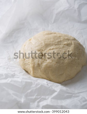 The dough used to make fresh homemade delicious scones, bread cake.  - stock photo