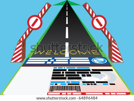 The driving of the international standard offers the driver the road worldwide. - stock photo