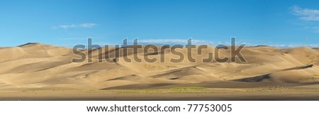 The dunes of Great Sand Dunes National Park. - stock photo