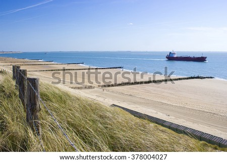 the dunes, Zoutelande, the Netherlands - stock photo