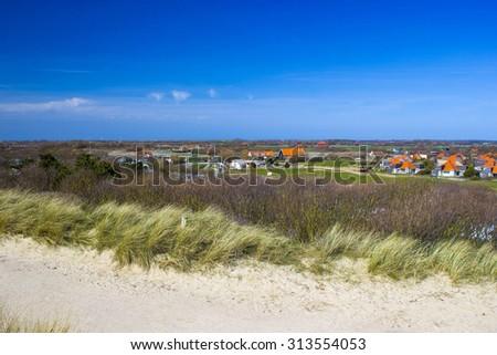 The Dutch village of Zoutelande - stock photo