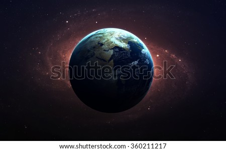 The Earth from space. This image elements furnished by NASA. - stock photo