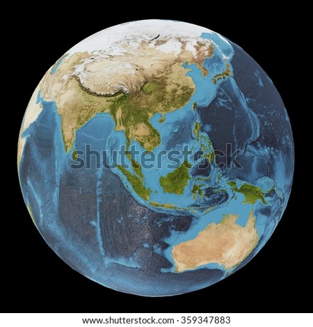 The Earth / Gaia / Terra - View of the Indian ocean - Elements of this image furnished by NASA - stock photo
