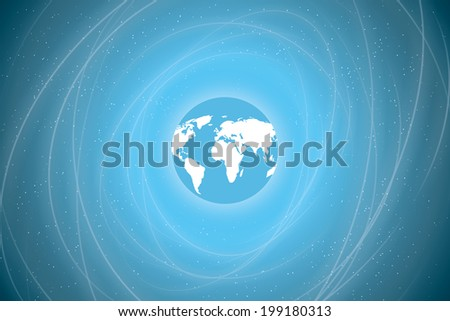 the earth in space. abstract background. view of earth from space.(rasterized version) - stock photo