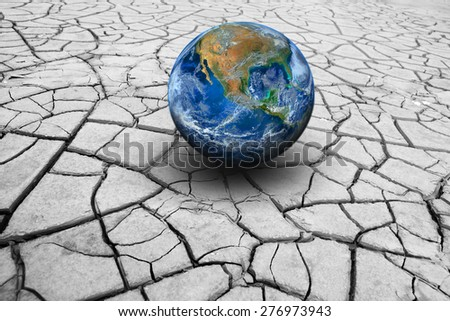 The earth on dry ground. Elements of this image furnished by NASA - stock photo