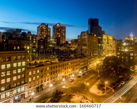 The East Village in New York.  - stock photo