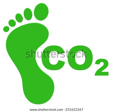 the ecological footprint - stock photo