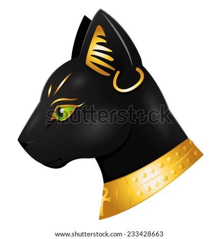 the egyptian god Bastet - stock photo