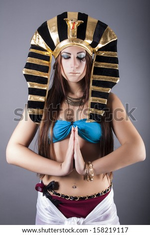 the egyptian queen cleopatra - stock photo