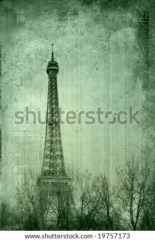 The Eiffel Tower - paris France - stock photo