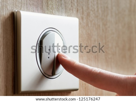 the electric switch - stock photo