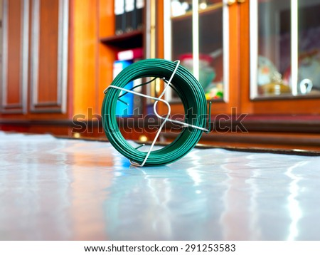 The electrical Skein cable object. - stock photo