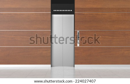 The elevator made from 3dcg - stock photo