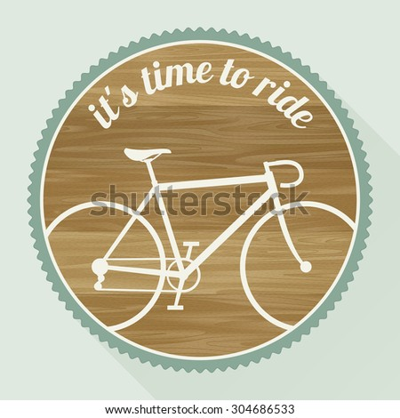 The emblem of the bicycle in a retro style. Raster version - stock photo