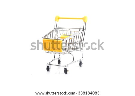 The empty cart for purchases - stock photo