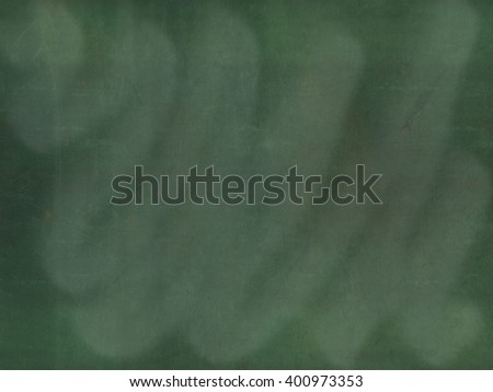 The empty dark green chalkboard/blackboard with traces removing or erase, background texture - stock photo